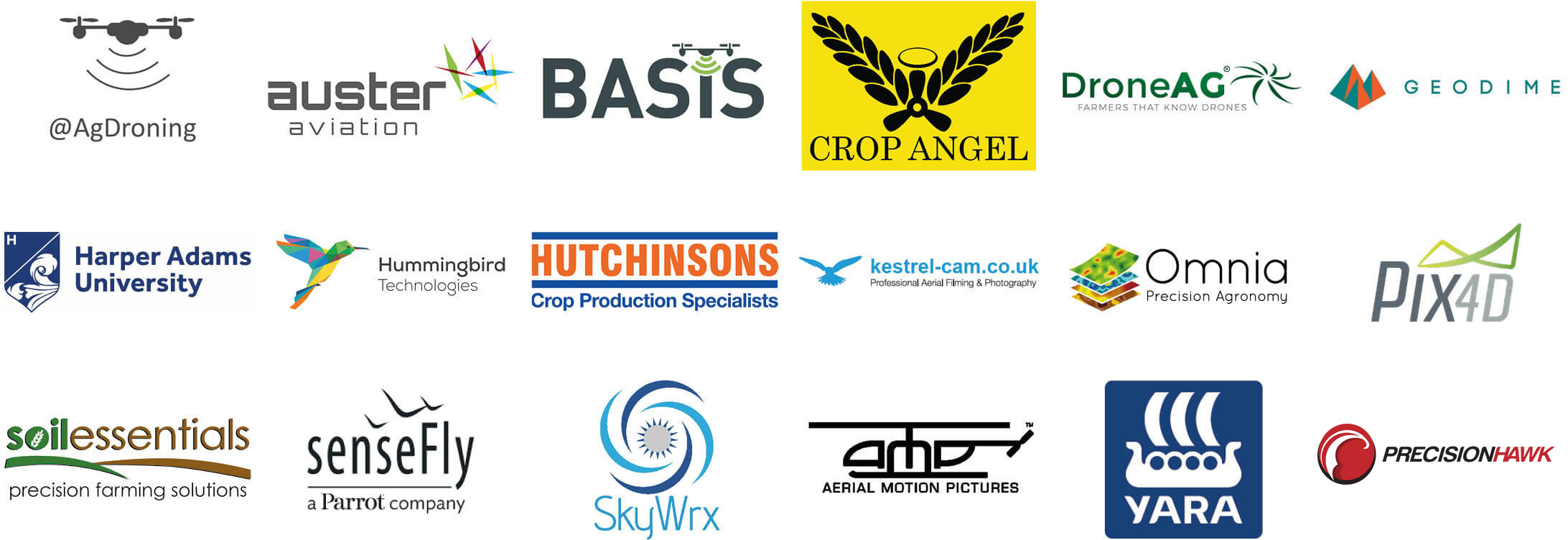 Drones for Farming conference logos